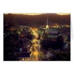 Pueblo de Stowe en la oscuridad Tarjeta De Felicitación