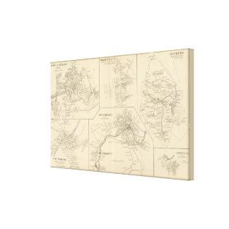 Pueblo de Suncock, Danbury, Henniker, W Henniker P Impresión En Tela