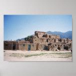 Pueblo de Taos en New México Impresiones