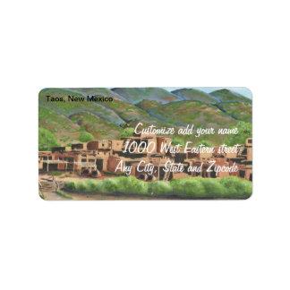 Pueblo de Taos, New México Etiquetas De Dirección