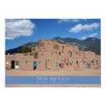 Pueblo de Taos, New México Invitación 12,7 X 17,8 Cm