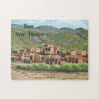 Pueblo de Taos, New México Rompecabezas Con Fotos