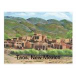 Pueblo de Taos, New México Tarjeta Postal