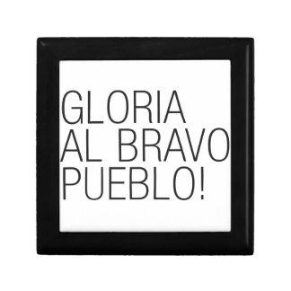 Pueblo del bravo del Al de Gloria - Venezuela Cajas De Recuerdo
