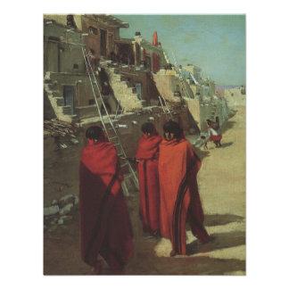 Pueblo del Hopi de Louis relacionado nativo Invitacion Personalizada