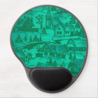 pueblo del invierno verde