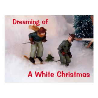 Pueblo del navidad de la Navidad blanca de los Postal