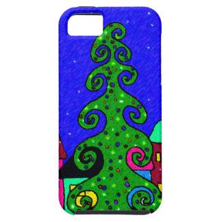 Pueblo del navidad iPhone 5 carcasa