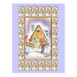 Pueblo del navidad tarjeta postal