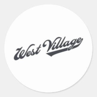 Pueblo del oeste etiqueta
