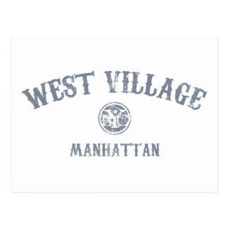 Pueblo del oeste postales