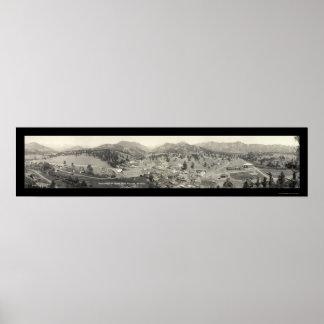 Pueblo del parque de Estes, foto 1919 del CO Póster