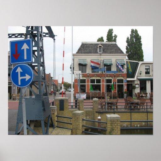 Pueblo del poster de la foto de Fryslan Frisia del