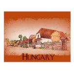 Pueblo del vintage de Hungría Postal