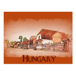 Pueblo del vintage de Hungría Tarjeta Postal