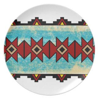 Pueblo Design Party Plate