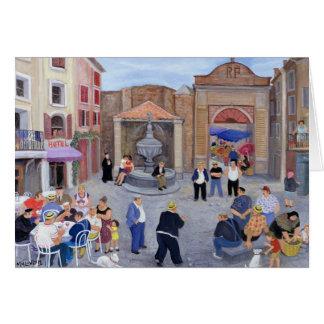 Pueblo en Provence Tarjeta De Felicitación