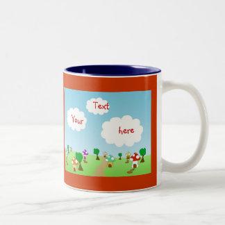 Pueblo enano taza de café