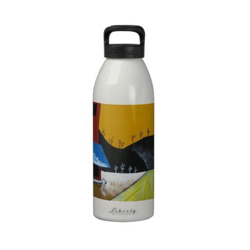 Pueblo fantasma botella de agua reutilizable
