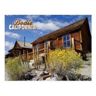 Pueblo fantasma de Bodie, California Tarjeta Postal