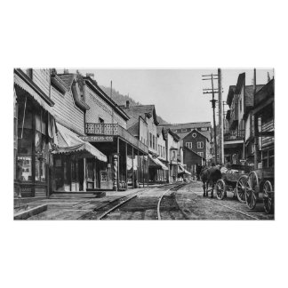 Pueblo fantasma de Mainstreet Burke - Idaho Poster