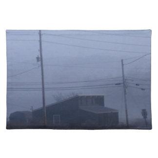 Pueblo fantasma de niebla mantel