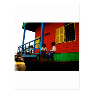 Pueblo flotante de Camboya Tarjetas Postales