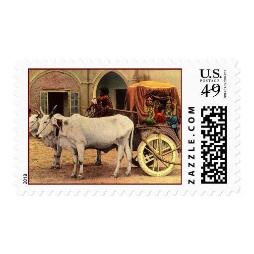 Pueblo Franqueo-Viejo de la India Sellos Postales