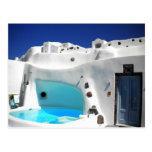 Pueblo Grecia de Ioa de la isla de Santorini Tarjetas Postales