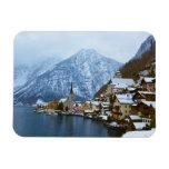 Pueblo Hallstatt en el lago - Salzburg Austria Imanes Flexibles