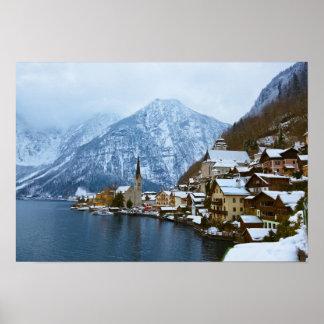 Pueblo Hallstatt en el lago - Salzburg Austria Impresiones