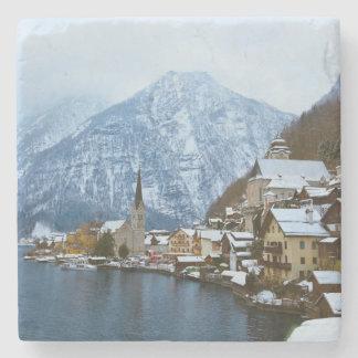 Pueblo Hallstatt en el lago - Salzburg Austria Posavasos De Piedra