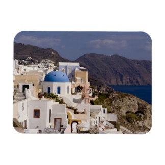 Pueblo hermoso de Oia con los edificios blancos Iman De Vinilo