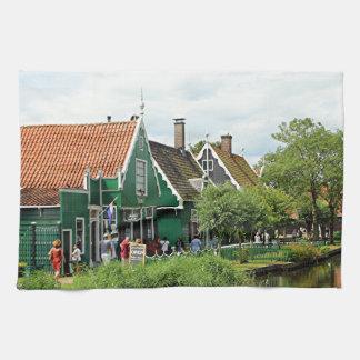 Pueblo holandés del molino de viento toallas
