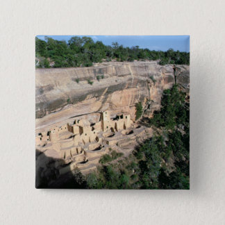 Pueblo Indian cliff dwellings Button