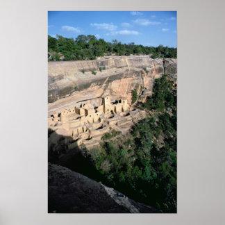 Pueblo Indian cliff dwellings Poster