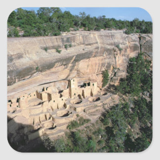 Pueblo Indian cliff dwellings Square Sticker