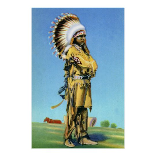 Pueblo Indian Dancer in Ceremonial Costume Poster
