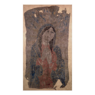 Pueblo Indian hide Painting of a Madonna, 1675 Poster