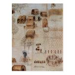Pueblo indio de Secoton Postales