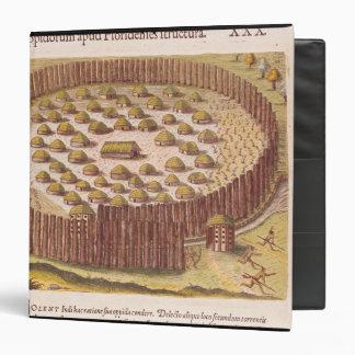 Pueblo indio fortificado, de '2 breves