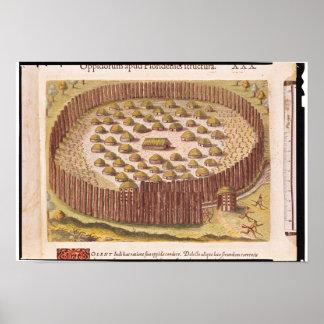 Pueblo indio fortificado, de '2 breves posters