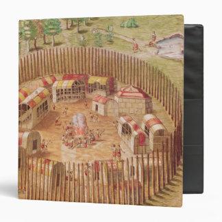 Pueblo indio fortificado, de 'breve