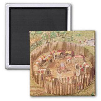 Pueblo indio fortificado, de 'breve imán