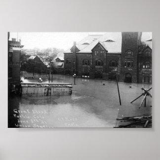 pueblo, inundación de Colorado Póster