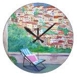 Pueblo italiano - reloj de pared
