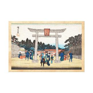 Pueblo japonés fresco de la puerta de los toros de lona envuelta para galerias