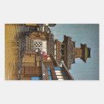 Pueblo lluvioso oriental fresco de Hasu Kawase del Pegatinas