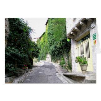 Pueblo medieval de Bruniquel, calle Tarjeta De Felicitación