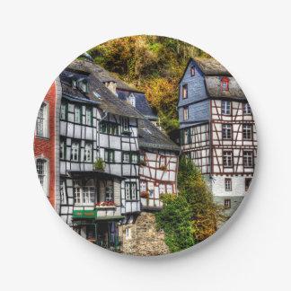 Pueblo medieval Monschau en Alemania